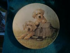 Knowles Collector's Plate Lab Puppies Field Trip Series Gone Fishin' 7484A
