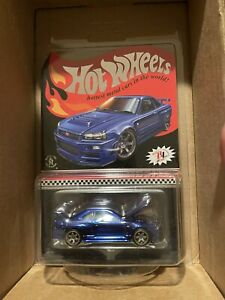 Hot Wheels 2019 RLC EXCLUSIVE Spectraflame BLUE Nissan Skyline GT-R (BNR34)