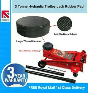 Large 3 Ton Hydraulic Trolley Floor Jack Heavy Duty Anti-Slip Rubber Saddle Pad