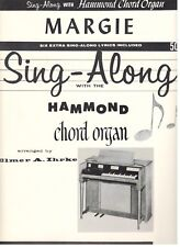 "SING-ALONG WITH HAMMOND CHORD ORGAN ""MARGIE"" SHEET MUSIC-1962-VERY RARE-NEW-MINT"