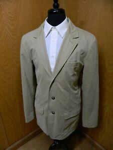 Mens Blazer Sport coat Jacket L.L Bean 42L Tan 100% Cotton NWOT  S#158