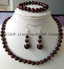 10mm Natural Red African Roar Tiger's Eye Round beads Necklace Bracelet Earrings