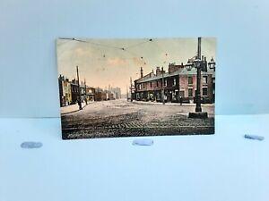 Old Postcard 1908 Market Street Farnworth Bolton Lancashire
