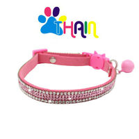 Cat Collar Breakaway with Bell Bling Diamond  rhinestones for Kitten and puppy