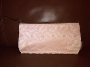 Mary Kay Peach Pink Lace  Cosmetic Makeup Bag