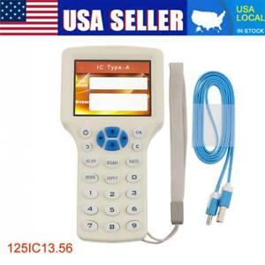 10 Frequency Reader Writer Duplicator 125Khz Programmer H ID IC Rfid Copier USA