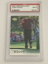 Tiger Woods 2001 Upper Deck Rookie Card #1 PSA 10 Gem Mint RC GOAT