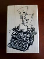 JUST A NOTE Saying TYPEWRITER Stampendous Rubber Stamp Stampinsisters #1060