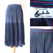 Vintage 1960s 70s House of Lavinia Striped Skirt Blue Red Black Size 10 12