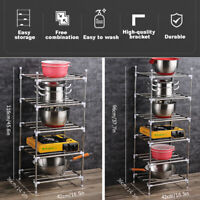 5/6 Tier Assembled Standing Steel Storage Rack Shelves Rack Holder Kitchen