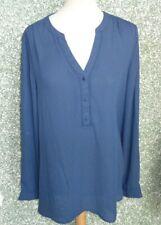 8A/11 Miss Etam Tunika Bluse Gr. L blau