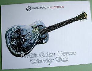 George Morgan Illustration 2022 British Guitar Heroes Calendar