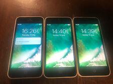 3x Apple iPhone 5c - 16GB - White (Unlocked) A1507 (GSM) JOB LOT !!!!!!!!