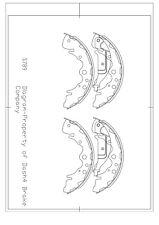 Drum Brake Shoe-Dash4 Shoes Rear Pronto S789 fits 02-04 Kia Sedona