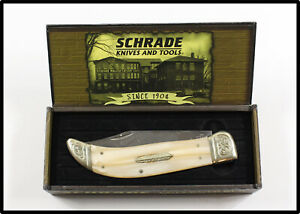 Vintage 2007 SCHRADE HAND MADE LIMITED ISSUE SCLE folding knife MOP w BOX NICE