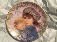 Edna Hibel Fine China 18K Knowles Mother's Day Plate 1987 Catherine & Heather