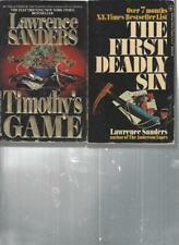 LAWRENCE SANDERS - TIMOTHY'S GAME- A LOT OF 2 BOOKS