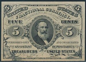 FR1238 5¢ THIRD ISSUE FRACTIONAL CURRENCY GEM CU BS6534