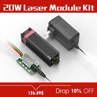 NEJE PWM/TTL 20W 450nm Focusable Blue Laser Module/Blue Laser Engraver head kits