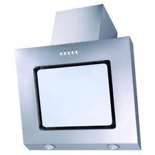 PKM 9031W Dunstabzugshaube 60cm weiß Glas Kopffreihaube Edelstahl Schräghaube