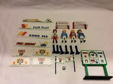 Vintage Playmobil 3868 Soccer Football Street Cup Complete!