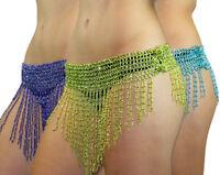 Beaded Elastic Waist Rave Belly Dance Skirt Hip Scarf Halloween Costume