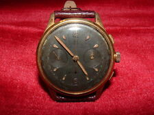 MONTRE CHRONOMETRE  CHRONOGRAPHE DICHIWATCH PLAQUE OR SWISS MADE 1940