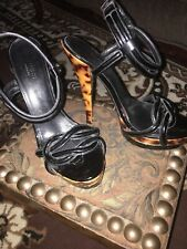 Gucci Patent leather platform and high heels woman sandals Sz 38 1/2