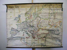Murs carte belle vieille Europe Carte Karl 157x126c ~ 1940 vintage map v. spruner