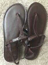 NEW HOLLISTER Co. Woman's Sandals Shoes Flats Brown sz XS 6-7