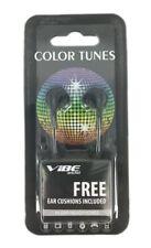 Full Case (48) Vibe Color Tunes Vs-120-Blk In-Ear Stereo Headphones Black Bulk