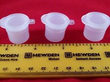 3.5ml Small plastic paint/sample/craft pot/jar/container-hinged lid 20,30,40,50