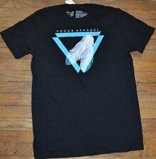 Focus Apparel Feather Graphic T-Shirt Mens Tee Size Large
