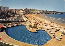 BT5632 Biarritz la grande plage et la piscine de l hotel du palais     France