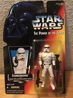 Star Wars POTF STORMTROOPER Orange/Red Card POWER OF THE FORCE 1995 New KENNER