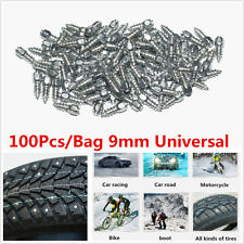 100x9mm Screw in Tire Stud Snow Spikes Racing Track Tire Ice Studs Car/Truck/ATV