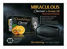 Charcoal Deep Cleansing Bar Chandanalepa Natural Best for Acne Clean 100g