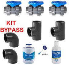 PVC Pression Kit Bypass 50mm Piscine avec colle et décapant