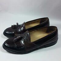 Men's Johnston & Murphy Tassel Slip-on Loafers Shoes Brown/Black Leather-9.5 M