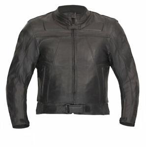 Lederjacke hochwertige Chopper Klassik Motorradjacke schwarz Gr. 46 bis 70
