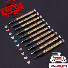 STA10 Colors Fine Metallic Markers Paint Pens for Rock Ceramic Glass Painting