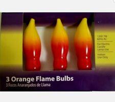 Light Keeper Pro ORANGE FLAME BULBS 3-Pack 120V CANDELABRA BASE INDOOR ~ NEW