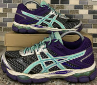 ASICS Gel-Cumulus 16 T489N Women's Running Sneakers Shoes Purple Teal Size 8