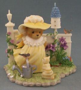 Cherished Teddies Priscilla And Clara #864331 Girl In Garden Signing Event Piece