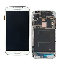 DISPLAY LCD TOUCH SCREEN per SAMSUNG GALAXY S4 I9505 i9500 BIANCO CON FRAME