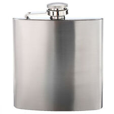 5X Stainless Steel 6oz Hip Flask Screw Cap for Whisky Alcohol O0V5 W3N0