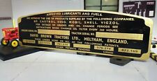David Brown 1963 Implematic 990 Red Tractor Dash Commission Build Chassis Plate
