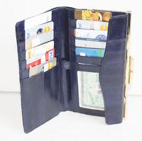 Eel Skin Leather Checkbook Coin Checkbook Holder French Clutch Organizer Wallet