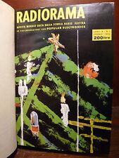 RADIORAMA - annata 1964 Rivista Radio Elettra Valvole Transistor 12 numeri Raro