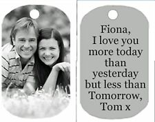 Personalized Custom Dog Tag Your Picture photo pendant 2 sided Black white style